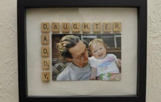 Scrabble photo frame
