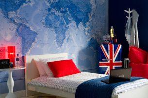 Αγορίστικο δωμάτιο με χάρτη