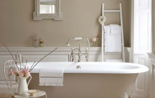 classic bathroom with bathtub