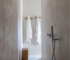 small cement bathroom
