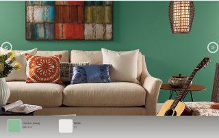 Βehr green living room