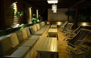 Φωτισμός πέργκολας ξενοδοχείου