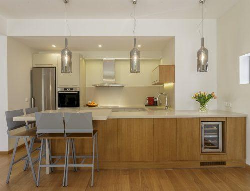 Σχεδιασμός κουζίνας και διαμόρφωση σαλονιού