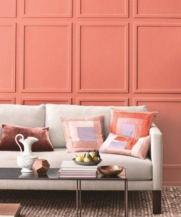 interior decoration living coral
